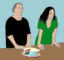 chiste corto con tarta y dieta
